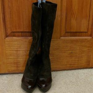 Nine West Platform Suede Boots